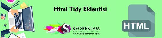 Html Tidy Eklentisi